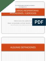 Cardio-Aplicaciones vs Ejercicios Import Ante, Ppt