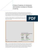 Windows 2008 Failover Clustering - An Introductory Review of the Administrative Consoles for Windows 2008 Failover Clustering