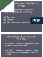 Microfiltracion Coronal in Vitro