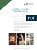 2DA _ Cesar Queiroz _ A invenção da tradição e o papel do design