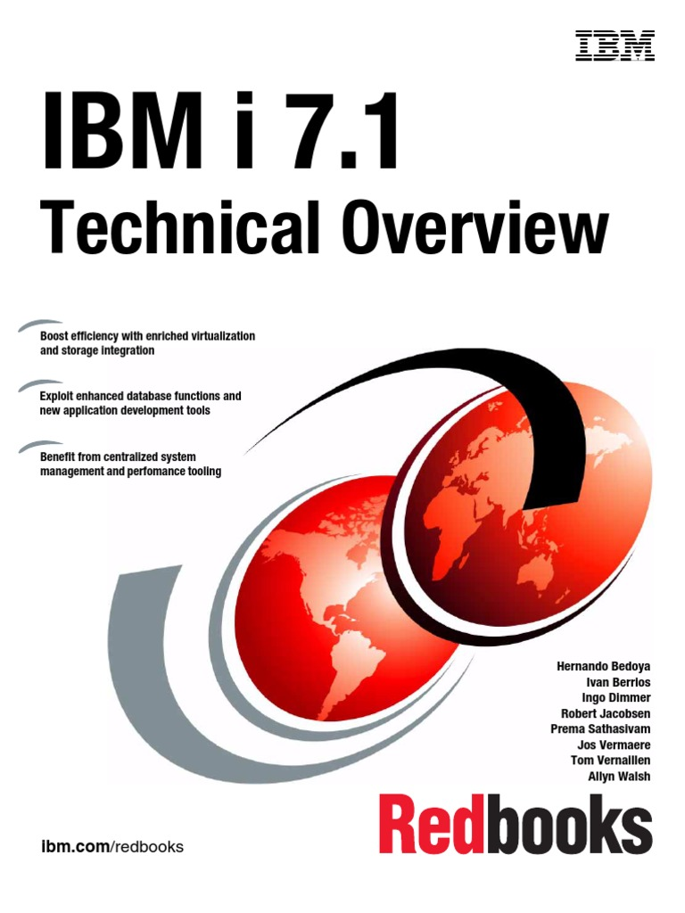 IBM i 7 1 Technical Overview | Portable Document Format