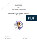 Air Quality Testing of Biodiesel