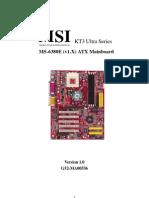 MSI KT3 Motherboard