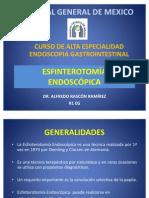 ESFINTEROTOMIA ENDOSCOPICA