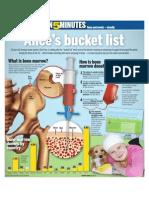 Alice's bucket list