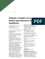 Empezar a trabajar con la Edición para educación de SolidWorks