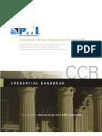 Pmi Pdc Ccr Handbook
