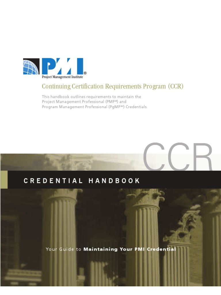 Pmi Pdc Ccr Handbook Credential Project Management
