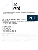 Sermons in Solitary Confinement Wurmbrand