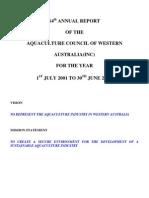ACWA Annual Report 14th 2002