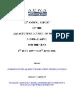 ACWA Annual Report 12th 2000