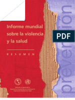 OMS Informe Violencia 2002