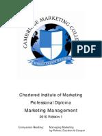 Marketing Management Study Guide 2010 V1