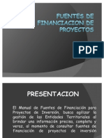 EXPOSICION FINANCIACION  PROYECTOS