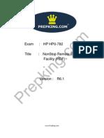 Prepking HP0-782 Exam Questions