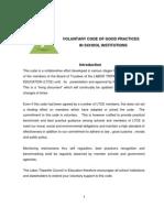 Voluntary Code of Good Practices in School Institutions