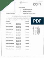 State of Texas Witness Supoena List - Warrens Jeffs' Wives