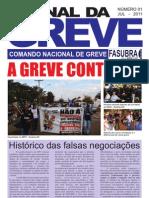 Jornal da Greve 2011 dos servidores técnico-administrativos das universidades federais