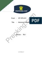 Prepking HP0-815 Exam Questions