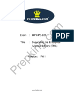 Prepking HP0-921 Exam Questions