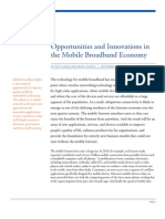 Opportunities and Innovations in the Mobile Broadband Economy