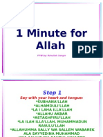 1 Minute for Allah