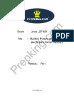 Prepking LOT-824 Exam Questions