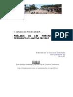 Análisis de 100 portadas del diario español El Mundo