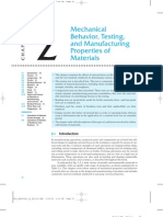 Mechanical Behavior Testing and MFG Properties of Materials