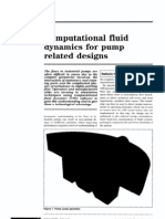 Computational Fluid Dynamics for Pump Related Designs