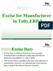 Excise for Manufacturers in Tally.erp9 2