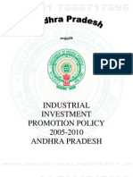 Andhra Pradesh Investment Promotion Policy 2005 to 2010