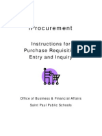 Manual Iprocurement Requisitions