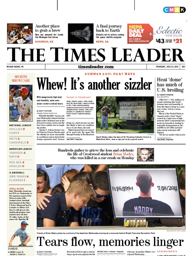 Times Leader 07-21-2011   Space Shuttle Atlantis   Space Shuttle a6cbbf5e9e