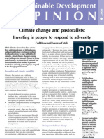 Climate Change and Pastoral Ism