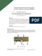 Global Frontrunner Routing Algorithm (GFRA) for V2V Communication in VANETS