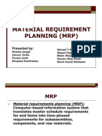 (2) Material Requirement Planning (Mrp)