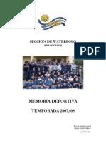 Memoria Deportiva 2007-08