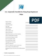 PSC Checklist