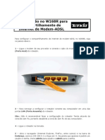 W268R - Configuração para Compartilhamento de Internet de Modem-ADSL