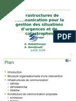 Infra Com 09 - Infrastructures de Communication pour la Gestion des Situations d Urgence et de Catastrophes