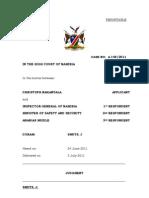 Nakanyala v Inspector-General of Namibia