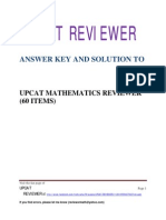 UPCAT Math Reviewer Solution