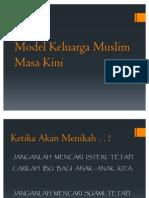 Model Keluarga Muslim Masa Kini..
