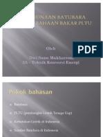 Penggunaan Batubara Sebagai Bahaan Bakar PLTU