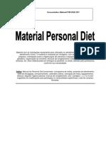Demonstrativo Material Personal Diet NTR