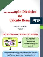 orientação dietética no cálculo renal
