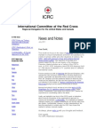 International Committee of the Red Cross July News and Notes