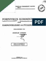 Porphyrios, Kommentar zur Harmonielehre des Ptolemaios