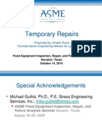 ASME Temporary Repairs 101410-1